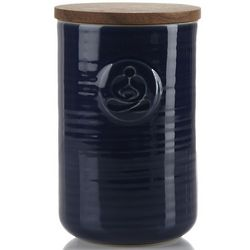 Blue Stoneware Tea Canister