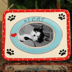 Number One Cat Ceramic Picture Frame