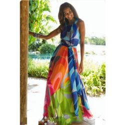 Carnivale Chiffon Maxi Dress