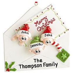 Personalized Christmas Letter Family Ornament