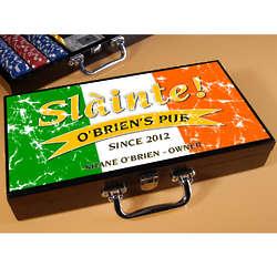 Pride of the Irish Personalized Poker Set