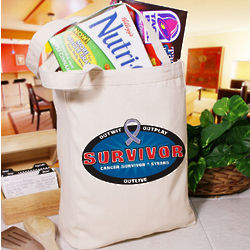 Personalized Cancer Survivor Tote Bag