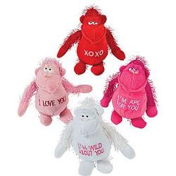 Plush Valentine Gorilla Set