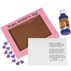Wooden Mother's Day Handprint Frame Craft Kit