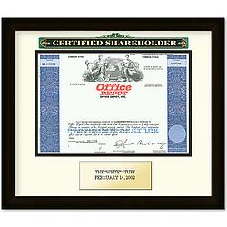 Framed Office Depot Certificate