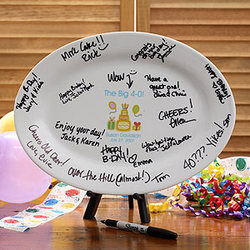Personalized Birthday Signature Platter