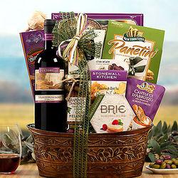 Portobello Montepulciano Italian Red Wine Gift Basket