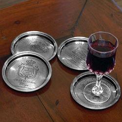 European Vineyard Wine Coaster Set