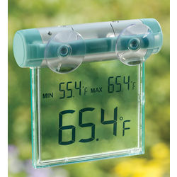 Solar Digital Window Thermometer