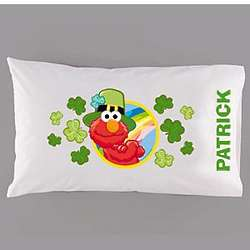 Personalized Elmo Saint Patrick's Pillowcase