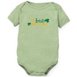 An Irish Blessing Soft Green Organic Romper