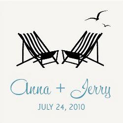 Beach Chairs Wedding Favor Tags