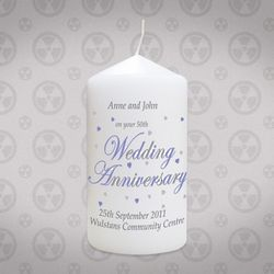 Personalized Anniversary Candle