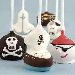 6 Handmade Pirate Chocolate Cake Pops