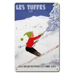 Les Tuffes Metal Ski Sign