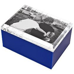 Colorful Lucite Photo Box