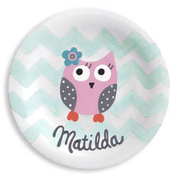 Baby Girl's I'm a Hoot Personalized Plate