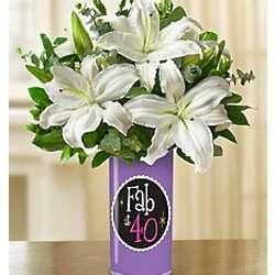 Fabulous 40th Birthday Bouquet