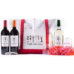 Wine Sisterhood Middle Sister Gift Set