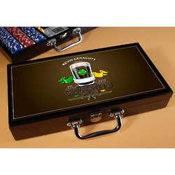 Irish Pub Personalized Poker Set