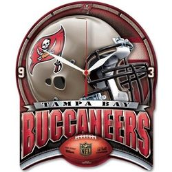 Tampa Bay Buccaneers Shield Clock