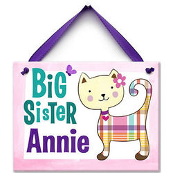 Pretty Kitty Big Sister Personalized Ceramic Wall Tile