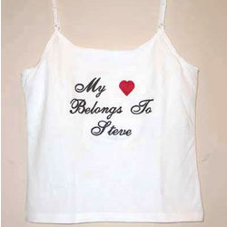 """My Heart Belongs to"" Personalized Tank"