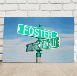 Personalized Street Sign Canvas Print
