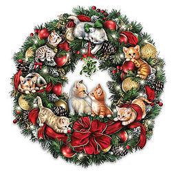 Merry Mischief Makers Illuminated Wreath
