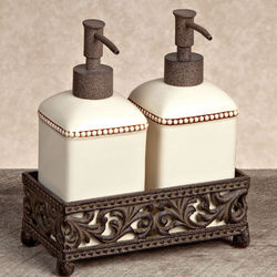 Lotion & Soap Pump with Tray Bathroom Set