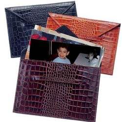 Croco Leather Photo Envelope