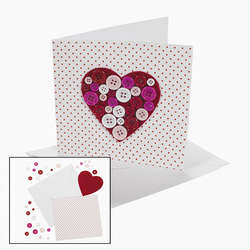 Button Heart Valentine Card Craft Kit