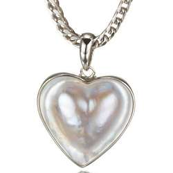 Mabe Pearl and Sterling Silver Heart Pendant