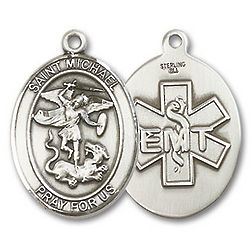 St. Michael Medal with EMT Insignia