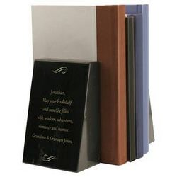 Personalized Black Marble Bookends