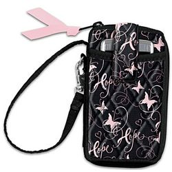 Ribbons Of Hope Breast Cancer Support Wristlet