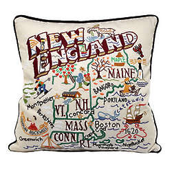 Hand Embroidered Region Pillow