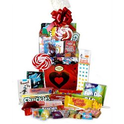 Big City Hearts Valentine Retro Candy Basket