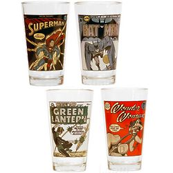 DC Comics Vintage Glass Set