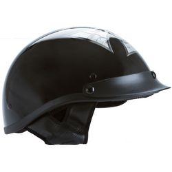 Black Motorbike Half Helmet