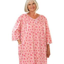 Women's Soft Knit Adaptive Pattern Hospital Gown