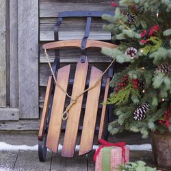 Decorative Wooden Sled Home Accent
