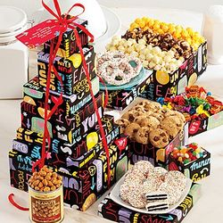 Fun with Snacks Six Tier Gift Tower