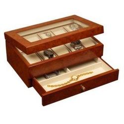 Peyton Watch Box in Burlwood Oak