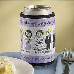 Personalized Wedding Characters Can Coozie