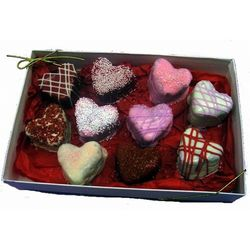 Love Heart Brownie Bites Gift Box
