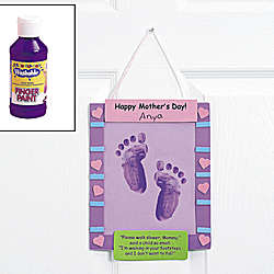 Mother's Day Footprint Banner Craft