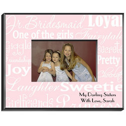 Personalized Junior Bridesmaid Pink Frame