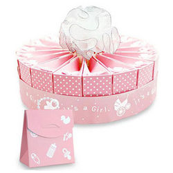 Baby Girl Shower Favor Cake Kit
