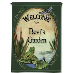 Personalized Lily Pad 2-Sided Garden Flag